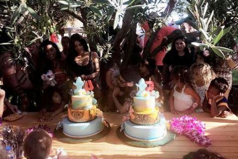 Penelope Disick Moana themed birthday partySource: Khloe Kardashian/Snapchat